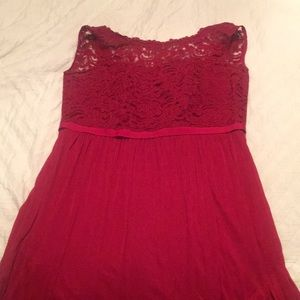 Red Formal Evening Gown, David's Bridal